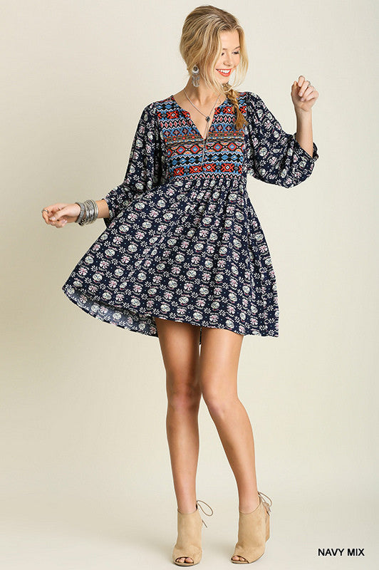 Navajo Winter Moon - Navy Mix - Umgee - Tunic - Angel Heart Boutique  - 3