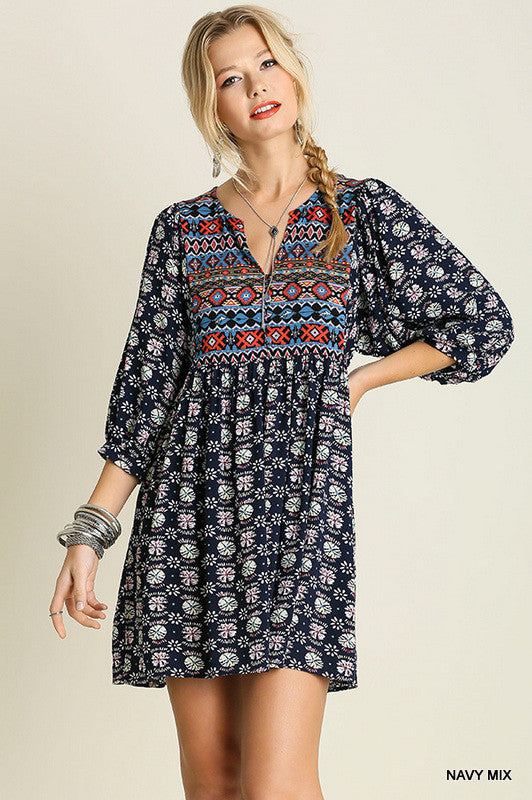 Navajo Winter Moon - Navy Mix - Umgee - Tunic - Angel Heart Boutique  - 1