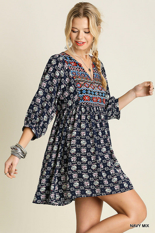 Navajo Winter Moon - Navy Mix - Umgee - Tunic - Angel Heart Boutique  - 2