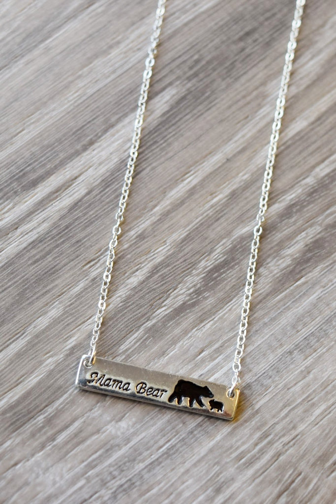 Mama Bear Necklace - Silver [product type] - Angel Heart Boutique
