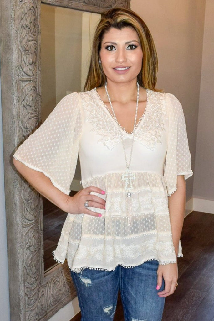My Sweet Side Top - Beige [product type] - Angel Heart Boutique