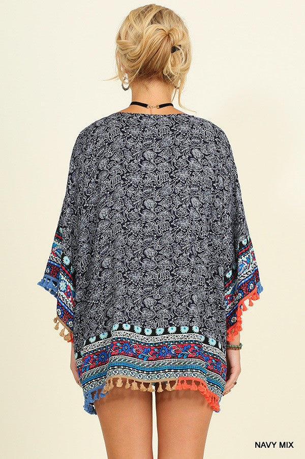 Mad Love Kimono - Blue - Angel Heart Boutique - Cardigan - Angel Heart Boutique  - 3