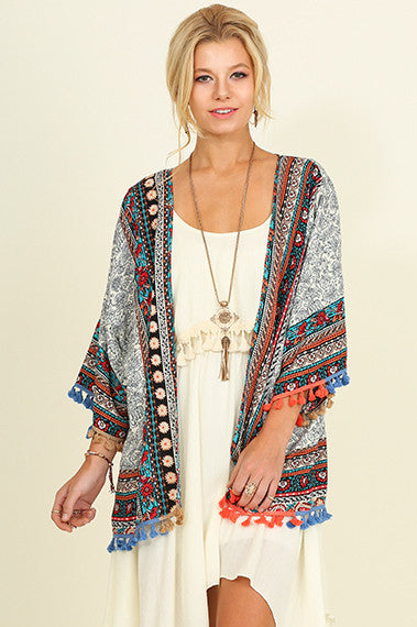 Mad Love Kimono - Off White - SALE - Angel Heart Boutique - Cardigan - Angel Heart Boutique  - 1