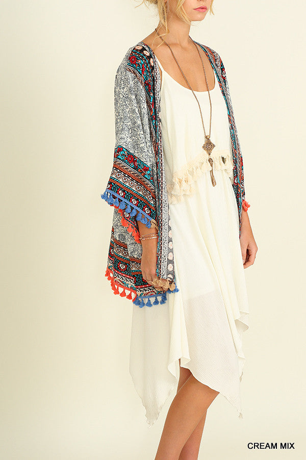 Mad Love Kimono - Off White - SALE - Angel Heart Boutique - Cardigan - Angel Heart Boutique  - 2