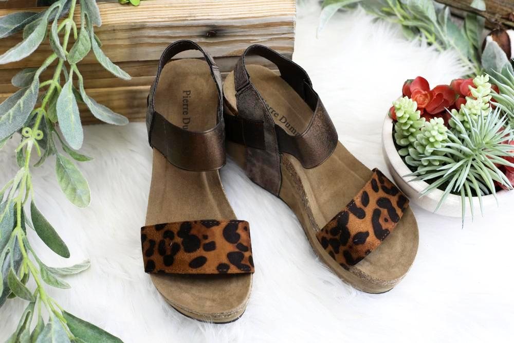Fierce Walk Wedges - Leopard [product type] - Angel Heart Boutique