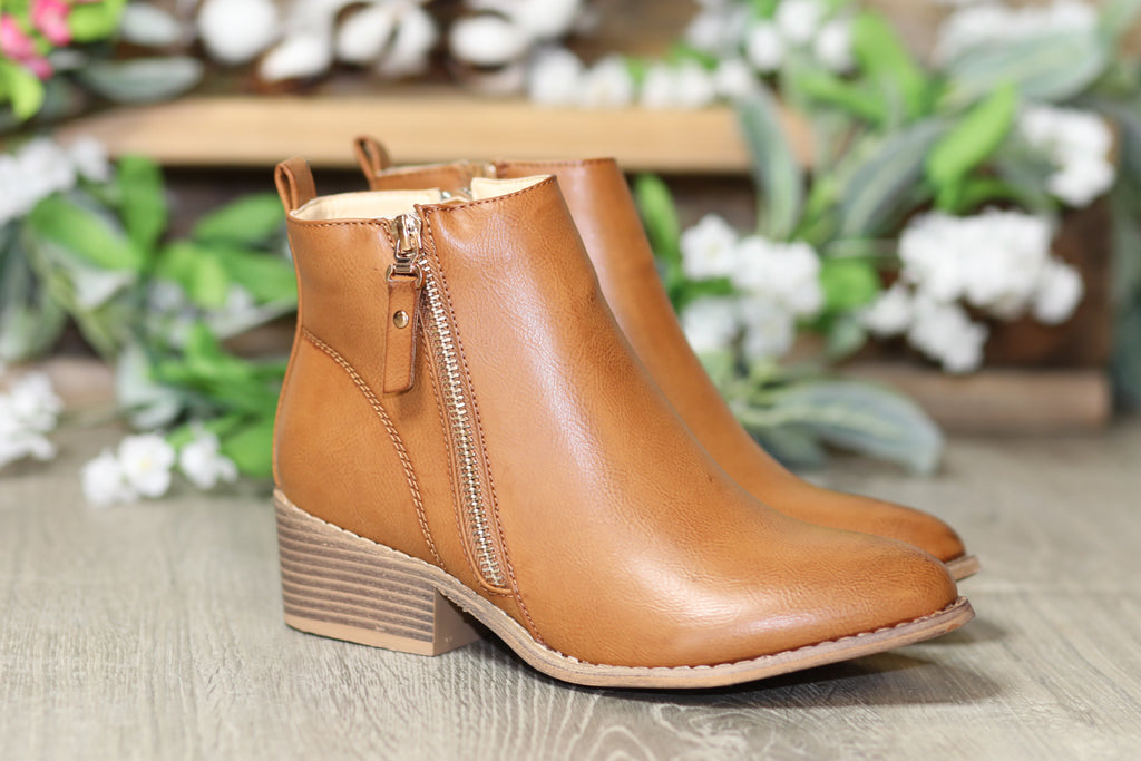 My Go To Booties - Tan - SALE