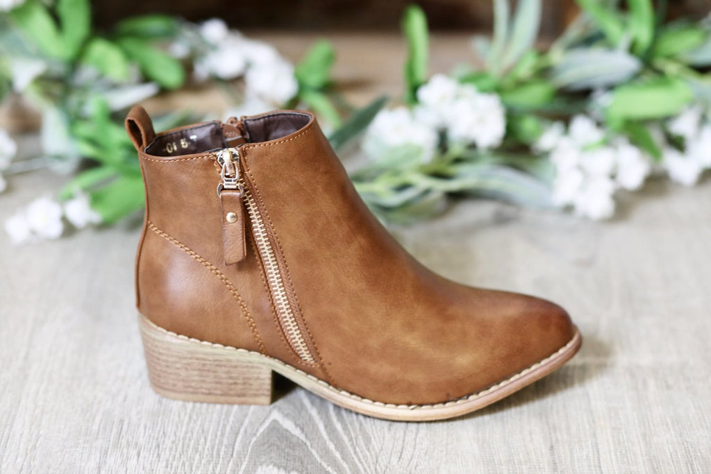 My Go To Booties - Brown - SALE