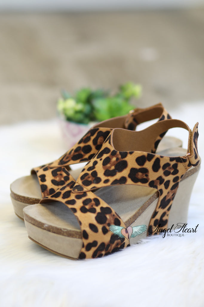 Catwalk Wedge - Leopard [product type] - Angel Heart Boutique