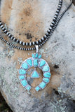 AUTHENTIC Turquoise Stone - Naja Squash Necklace [product type] - Angel Heart Boutique