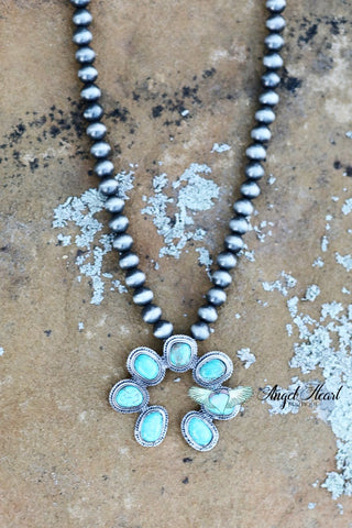 AUTHENTIC TURQUOISE STONE - Jamil Necklace