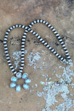 AUTHENTIC TURQUOISE STONE - RIVER ROLL NECKLACE [product type] - Angel Heart Boutique