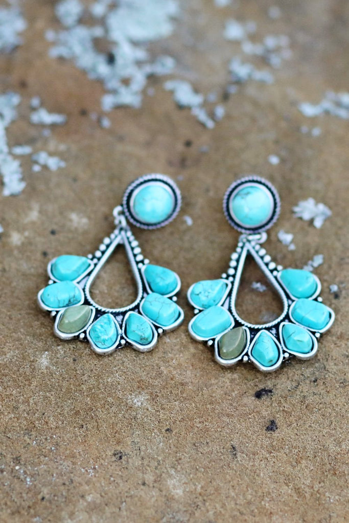 AUTHENTIC Turquoise Stone - MY BEAUTY Earrings [product type] - Angel Heart Boutique