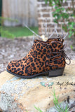 Criss Cross Leopard Booties [product type] - Angel Heart Boutique