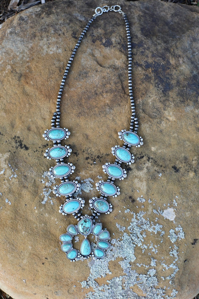AUTHENTIC TURQUOISE STONE - Cheyenne Necklace [product type] - Angel Heart Boutique