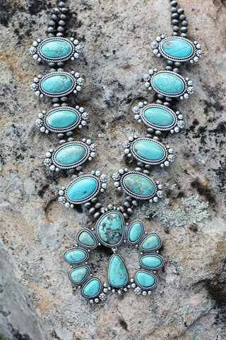 AUTHENTIC TURQUOISE STONE - Bali Earrings