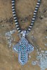 AUTHENTIC TURQUOISE STONE - Cross Necklace [product type] - Angel Heart Boutique