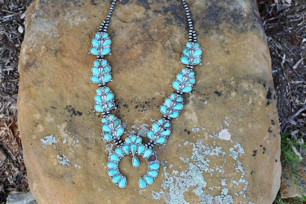 AUTHENTIC TURQUOISE STONE - Nala Necklace