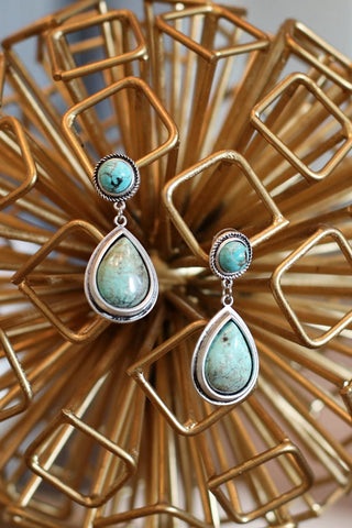 AUTHENTIC TURQUOISE STONE - Lucy Earrings