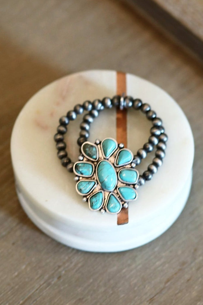 AUTHENTIC TURQUOISE STONE - Going In Circles Bracelet [product type] - Angel Heart Boutique