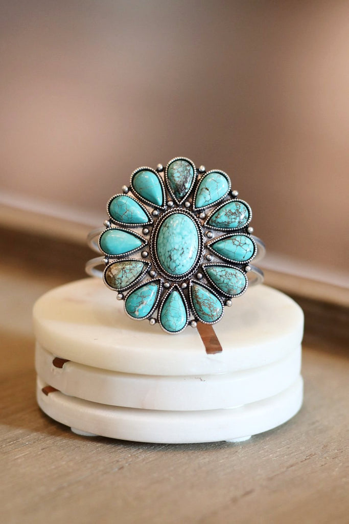 AUTHENTIC TURQUOISE STONE - Jade Bracelet [product type] - Angel Heart Boutique