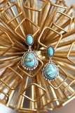 AUTHENTIC TURQUOISE STONE - NELI EARRINGS