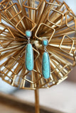 AUTHENTIC TURQUOISE STONE -  DARCI EARRINGS [product type] - Angel Heart Boutique
