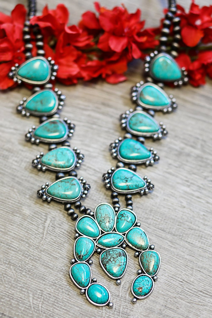 AUTHENTIC TURQUOISE STONE - LUPI NECKLACE - TURQUOISE
