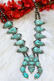 AUTHENTIC TURQUOISE STONE - LUPI NECKLACE - TURQUOISE [product type] - Angel Heart Boutique