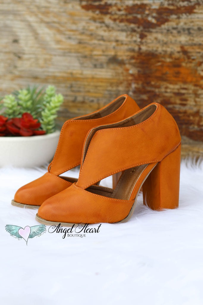 Time Won't Stop Heels - Tan [product type] - Angel Heart Boutique