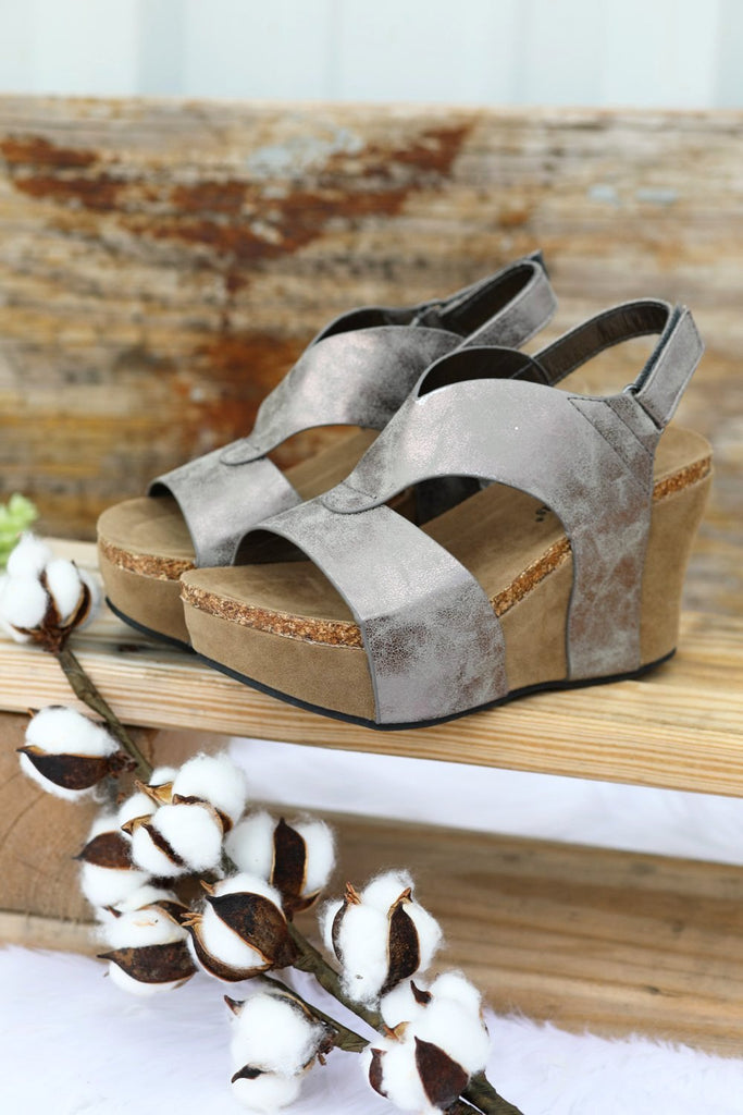 My Go To Wedge -Pewter [product type] - Angel Heart Boutique