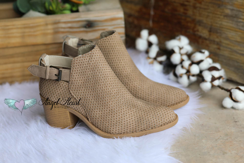 Make Me a Dreamer Booties - Taupe