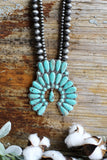 AUTHENTIC TURQUOISE STONES - CHEROKEE NECKLACE - Turquoise [product type] - Angel Heart Boutique