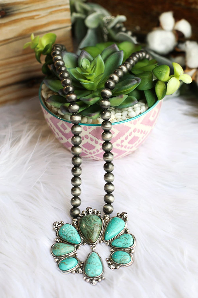 AUTHENTIC TURQUOISE STONE - Livia Necklace