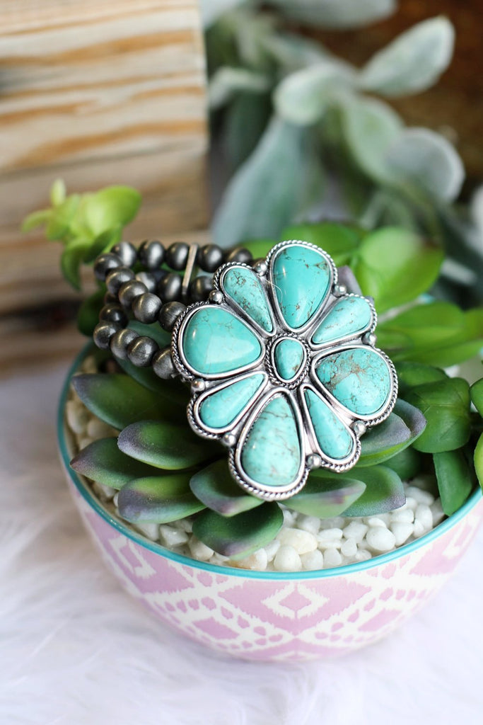 AUTHENTIC TURQUOISE STONE - Find Yourself Bracelet [product type] - Angel Heart Boutique