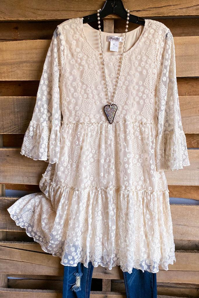 AHB EXCLUSIVE: Beautiful Melodies Tunic/Dress - Beige