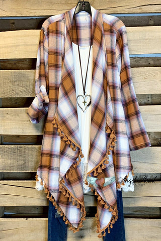 AHB EXCLUSIVE: Forever Dreaming Cardigan - Cherry/Plaid