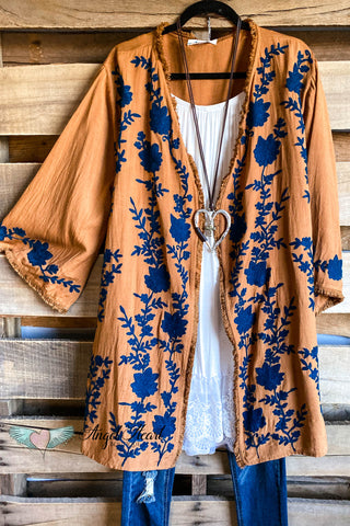 More Than Words Kimono - Goldenrod