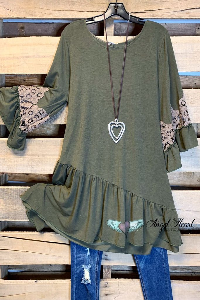 The Love You Found Tunic - Olive