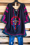 AHB EXCLUSIVE - Beach Vibes Tunic - Black - 100% COTTON