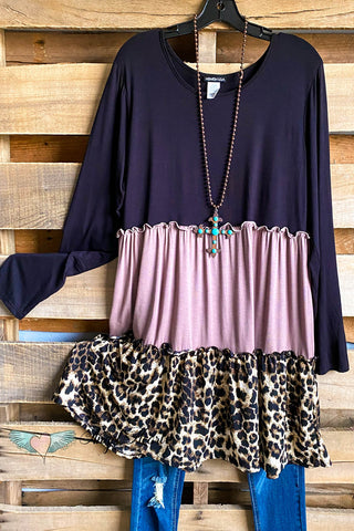 Catching Laughs Dress - Mauve