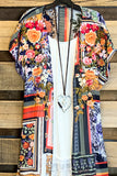 Blooming Babe Long Duster Kimono - Navy