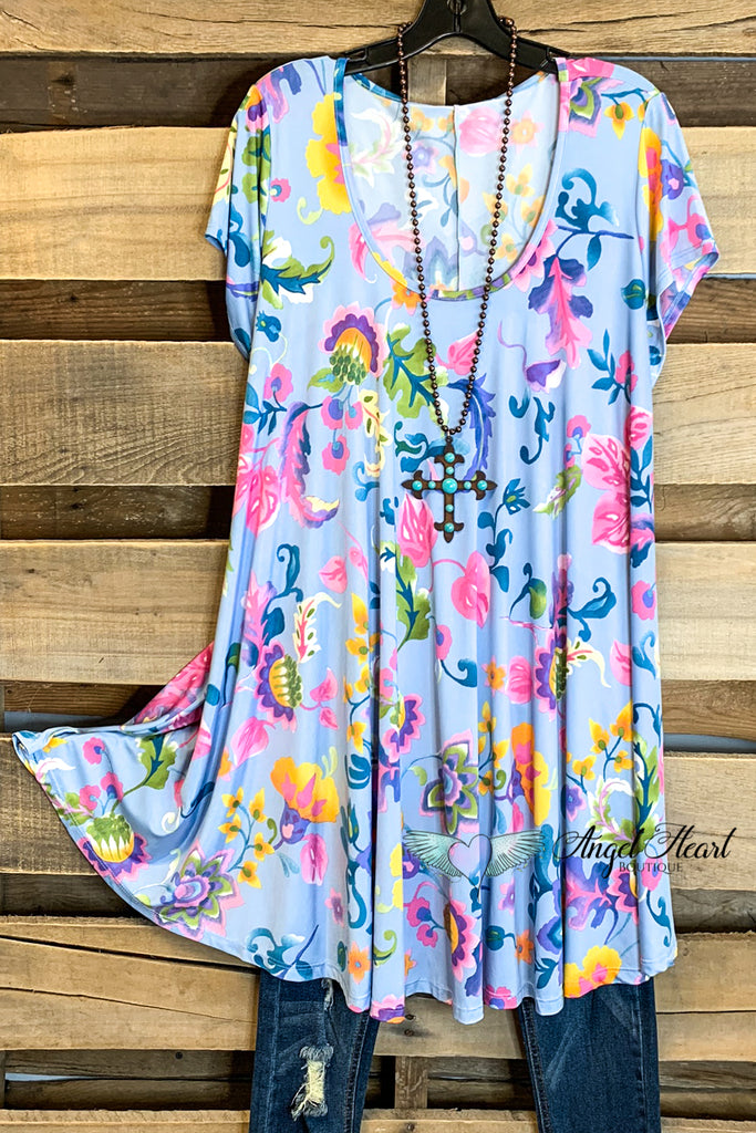 Living in Paradise Dress - Sky  - SALE