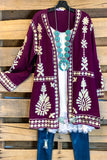 AHB EXCLUSIVE: Moon Light Cardigan - Plum