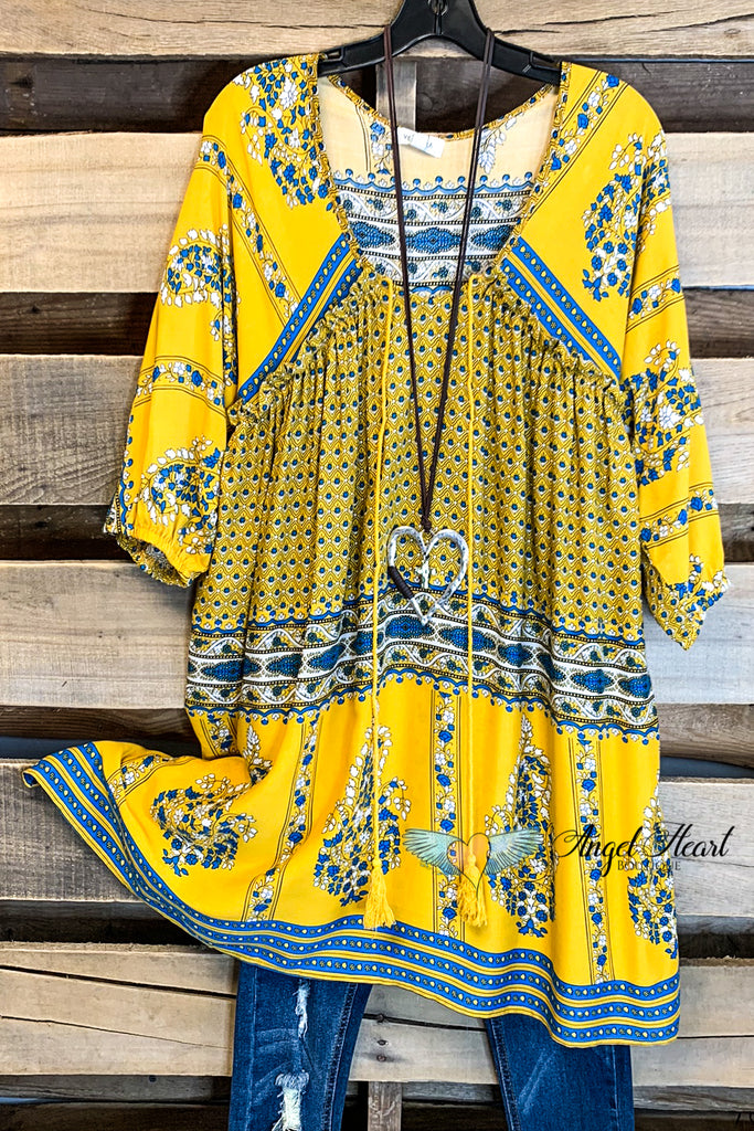 Come So Far Tunic - Yellow