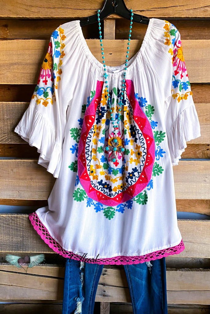AHB EXCLUSIVE: Sweet Talker Tunic - White