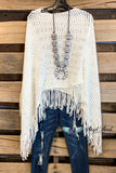 Two Way Sequin Poncho/Shawl - White