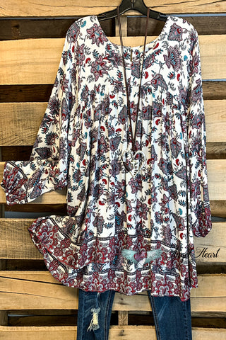 Such a Fun Piece Poncho - Burgundy
