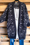 Empress Pocket Sweater Cardigan  - Black