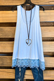 Extender: Slip on Tank/Tunic - Ice Blue