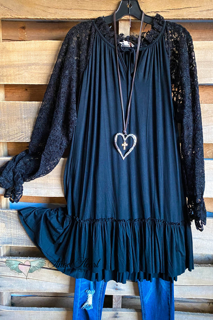Carefree Lace Dress - Black - SALE